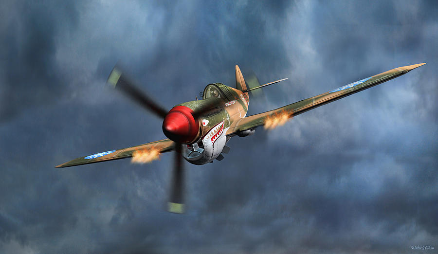 Flying Tiger P-40 Warhawk Digital Art by Walter Colvin