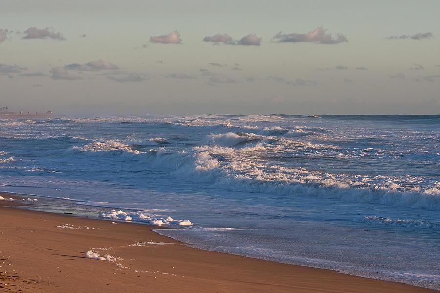 Twilight Photograph - Foamy Sea At Twilight by Dina Calvarese