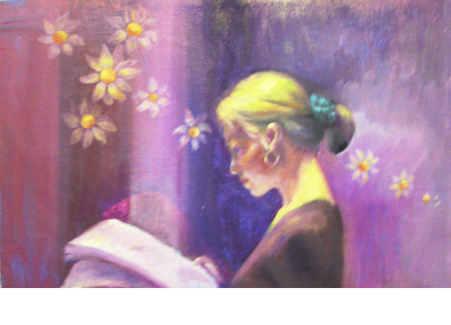Oil Painting Painting - Focusing by Eun Yun