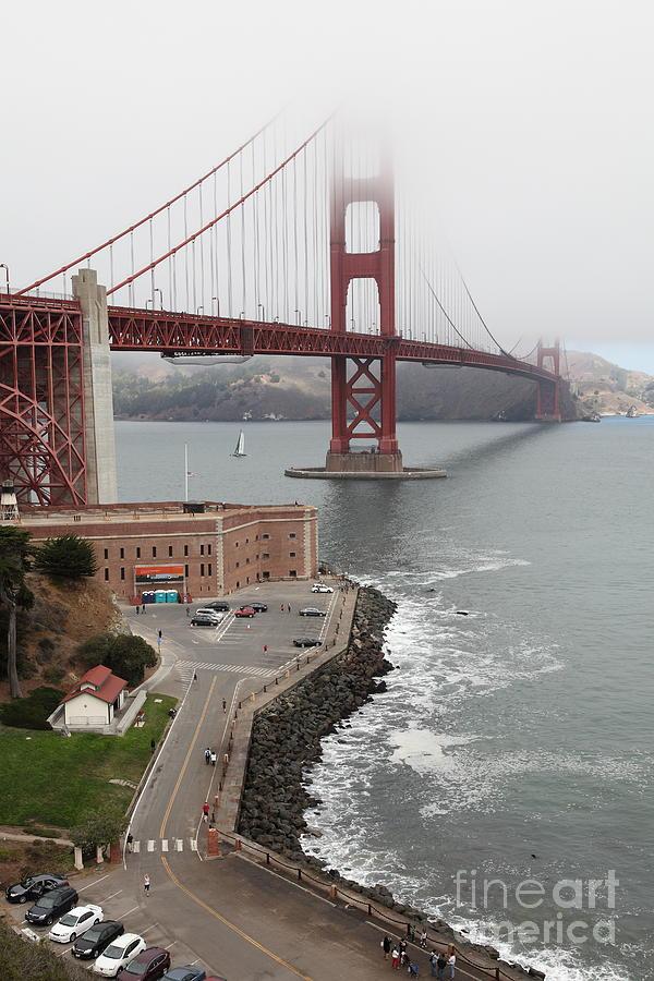 San Francisco Photograph - Fog At The San Francisco Golden Gate Bridge - 5d18872 by Wingsdomain Art and Photography