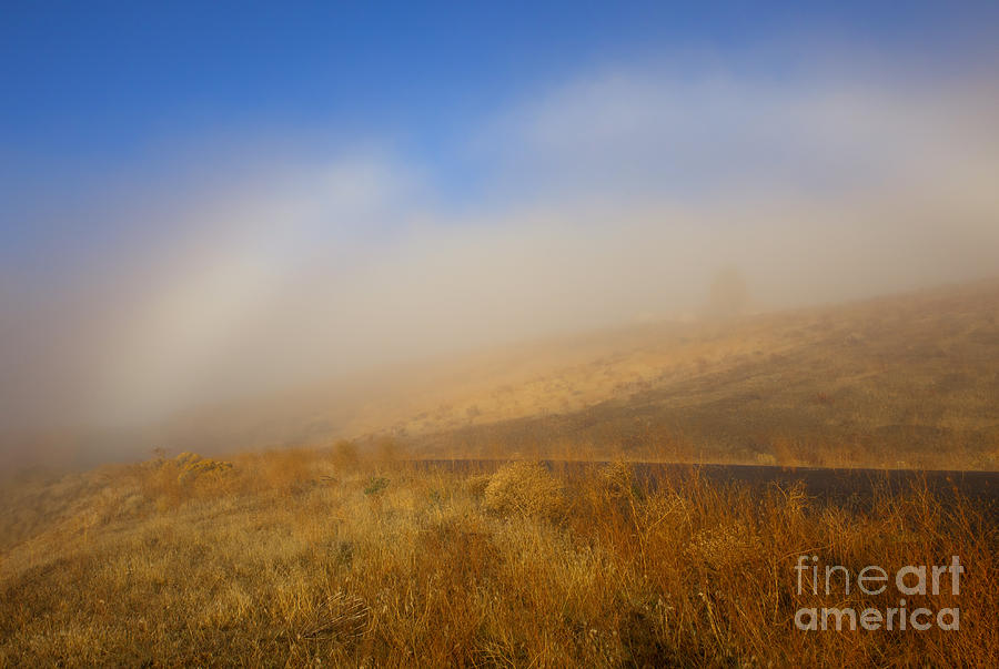 Fogbow Photograph - Fog Bow At Lookout Point by Mike  Dawson