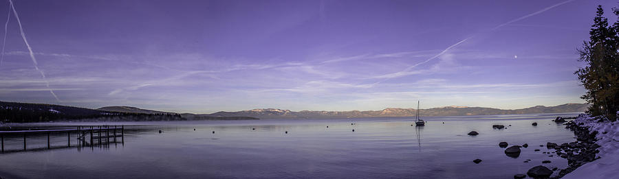 Lake Tahoe Photograph - Fog In The Distance by Brad Scott
