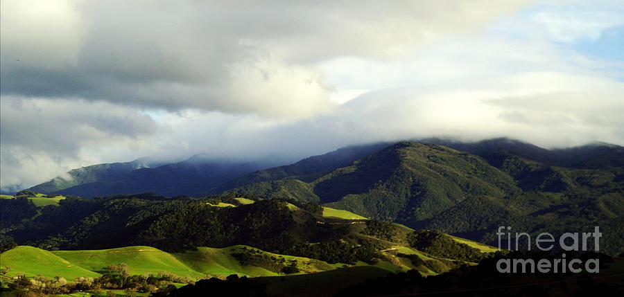 Fog over Santa Ynez valley by Gary Brandes