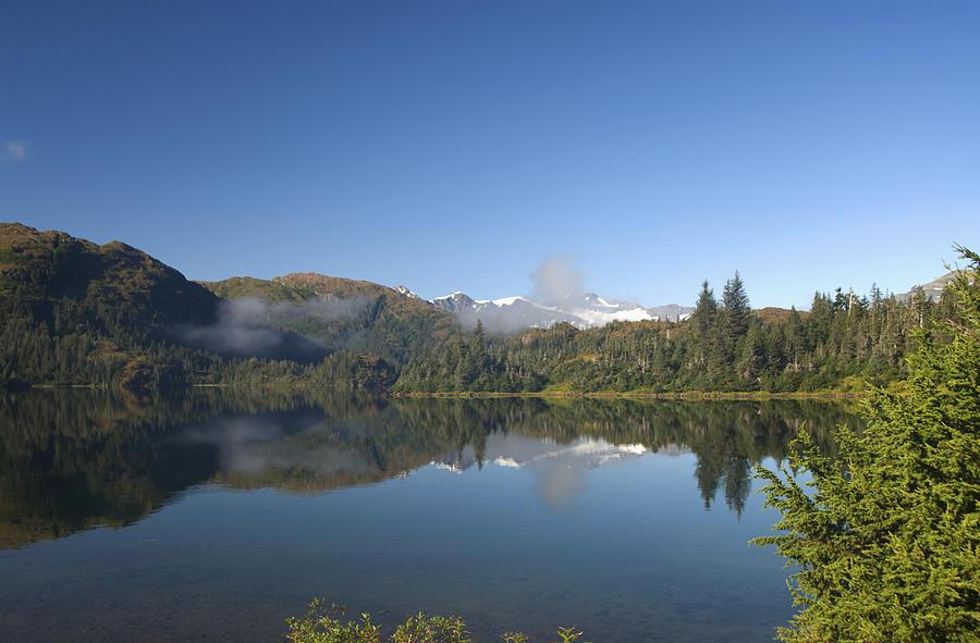 Alaskan Photograph - Fog Over Shrode Lake II by Gloria & Richard Maschmeyer