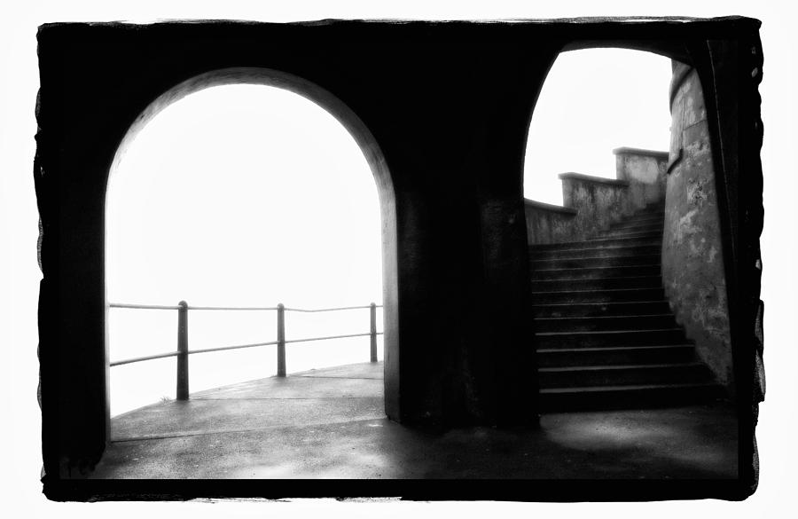 Framed Pyrography - Foggy Day H-1b by Mauro Celotti