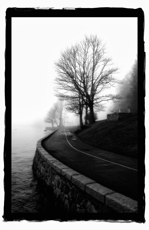 Framed Pyrography - Foggy Day V-6 by Mauro Celotti