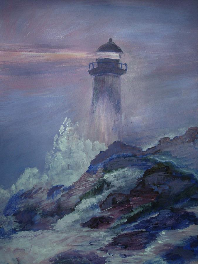 Foggy Night Painting By Judith Bilick