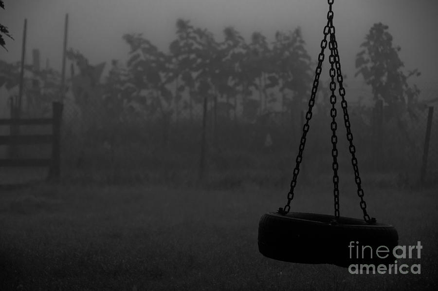 Foggy Playground Photograph