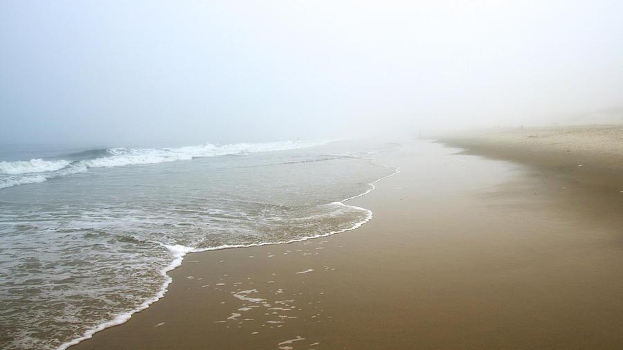 Foggy Shore Photograph by Jayne Howard