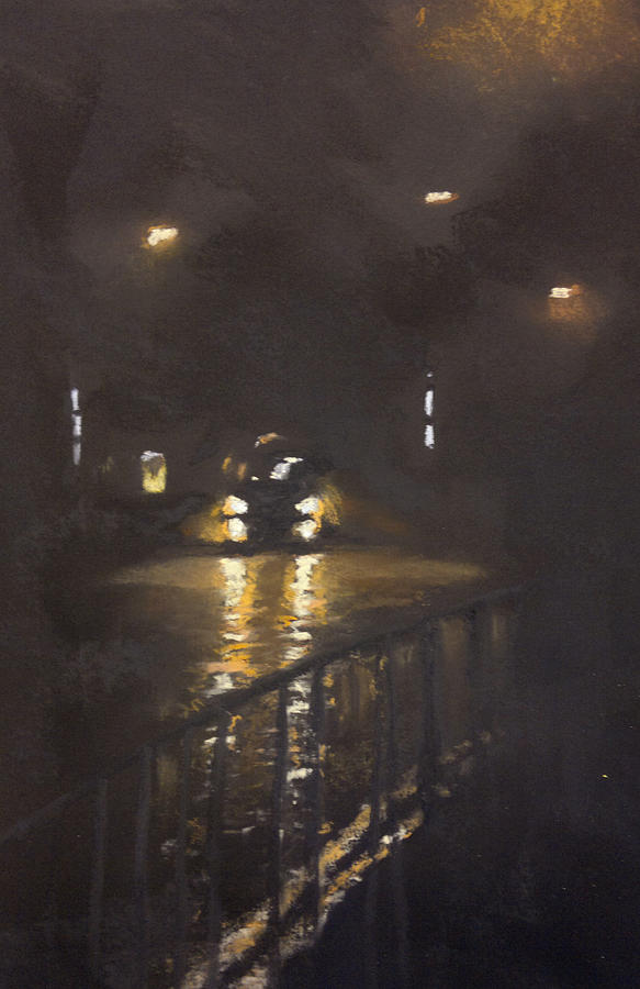 Night Pastel - Foggy Street 4 by Paul Mitchell