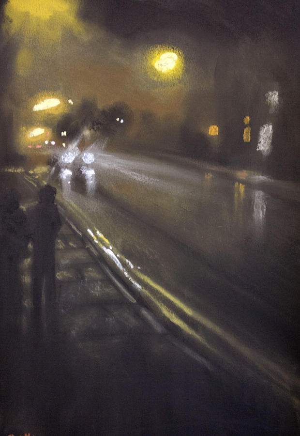 Urban Painting - Foggy Street 6 by Paul Mitchell