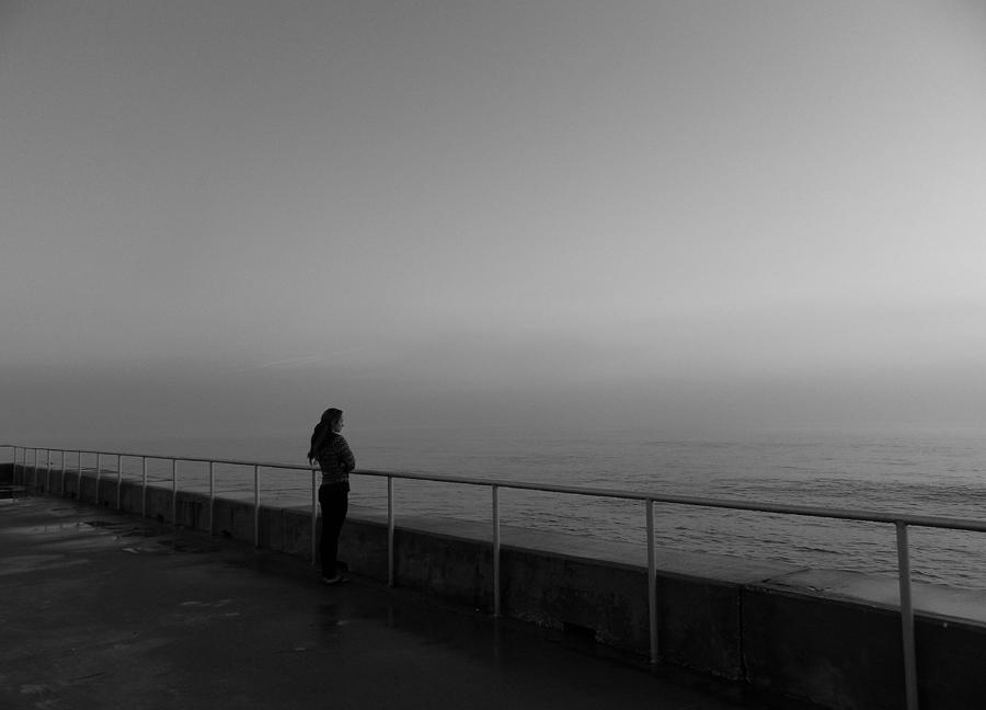 Seascape Photograph - Foggy Thoughts by David Mcchesney