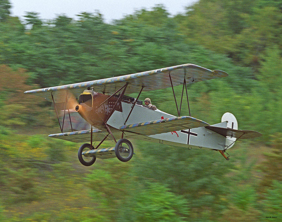 German Fighter Photograph - Fokker Dvii 01 by Jeff Stallard