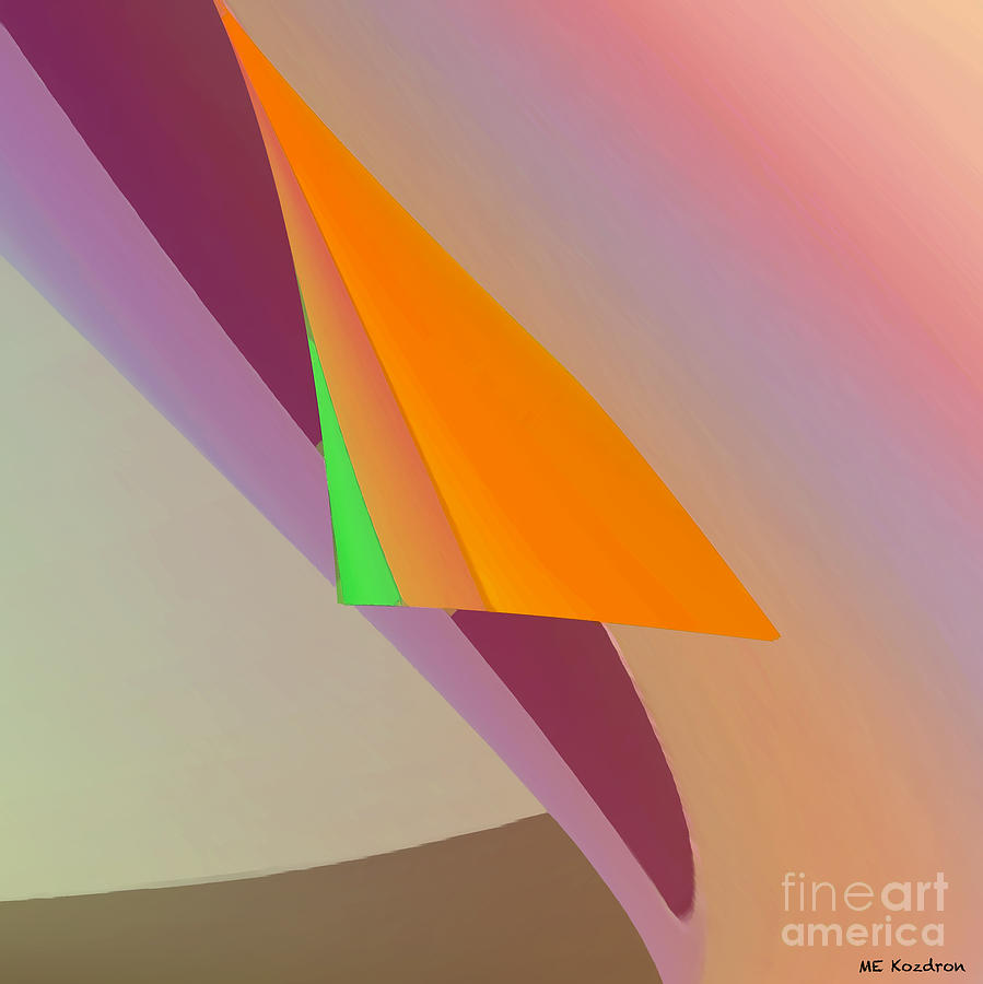 Abstract Digital Art - Folds by ME Kozdron