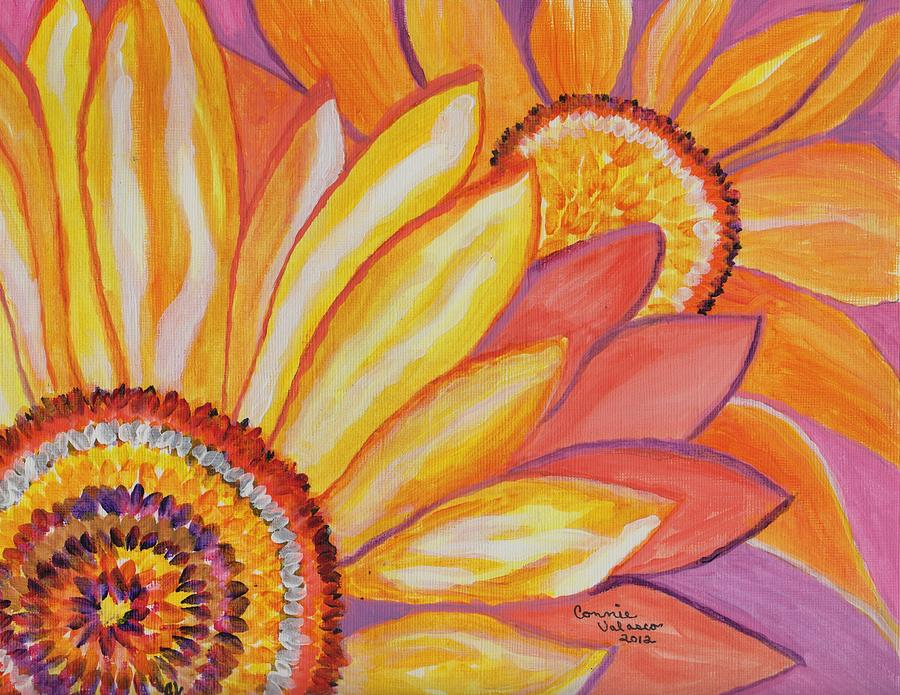 Sunflowers Painting - Follow The Sun by Connie Valasco