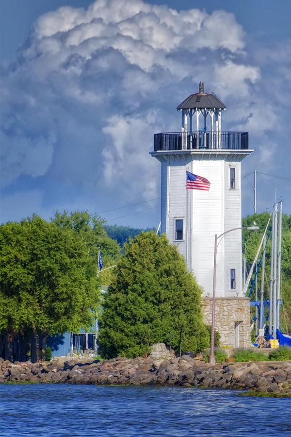 Beacon Photograph - Fond Du Lac Lighthouse by Joan Carroll