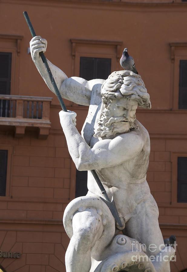 Wells Photograph - Fontana Del Nettuno. Neptune Fountain. Piazza Navona. Rome by Bernard Jaubert
