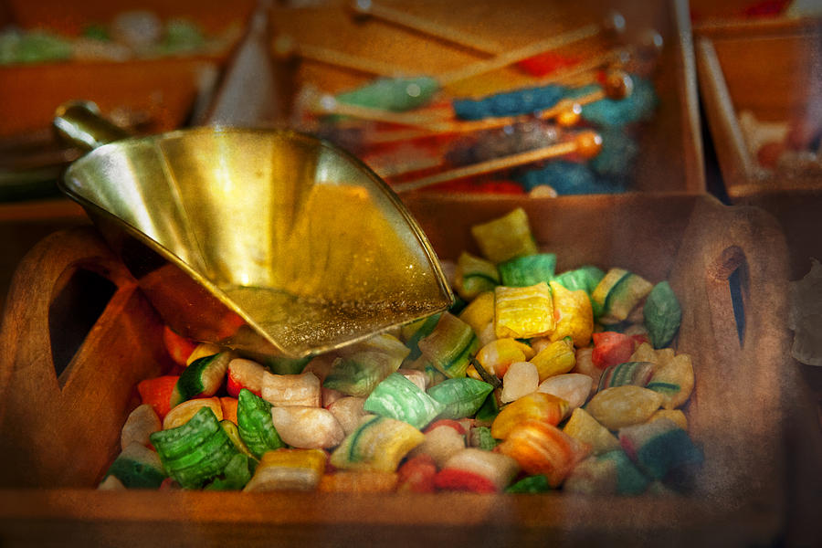 Chef Photograph - Food - Candy - One Scoop Of Candy Please  by Mike Savad