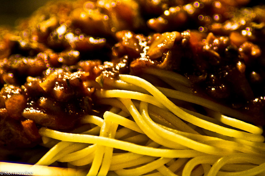 Pasta Photograph - Food For Thought by Kornrawiee Miu Miu