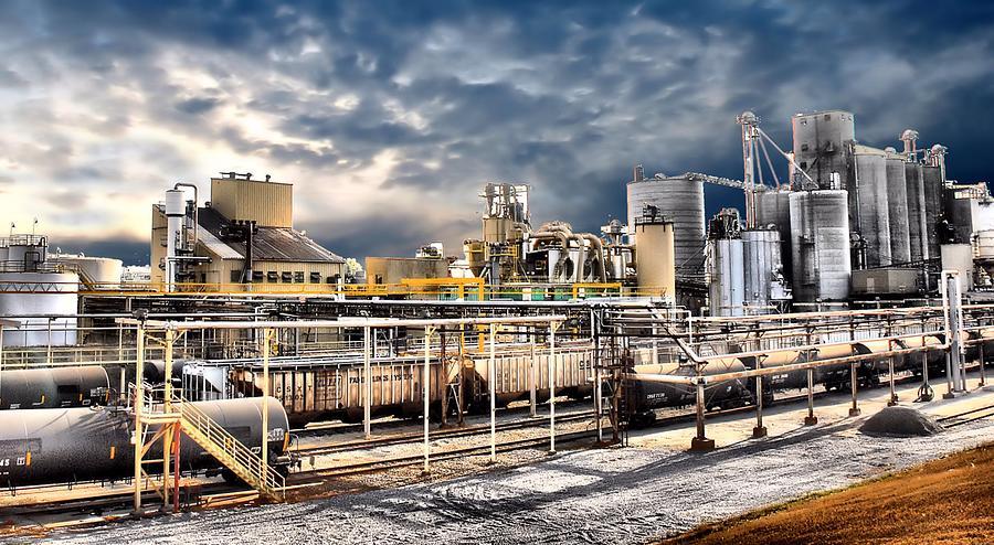 Food Processing Plant ~ Food processing plant photograph by kenneth mucke