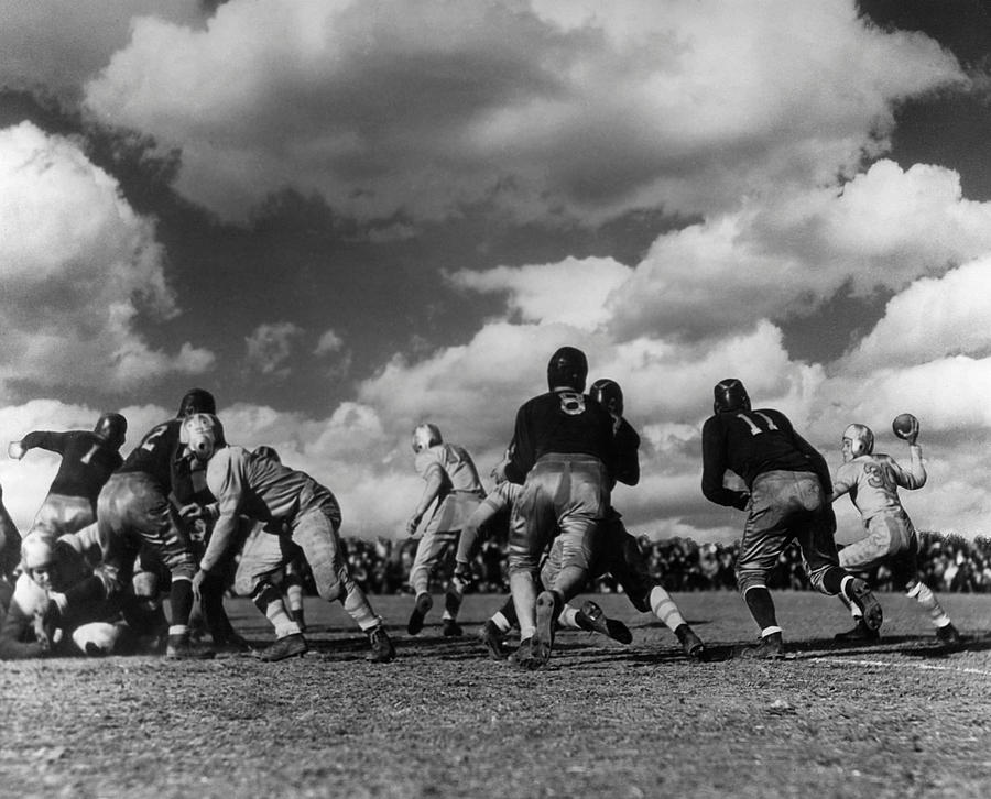 Adults Only Photograph - Football Game by George Marks