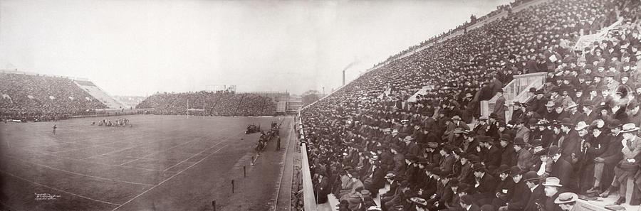 1900s Photograph - Football, Panorama Of The Harvard - by Everett