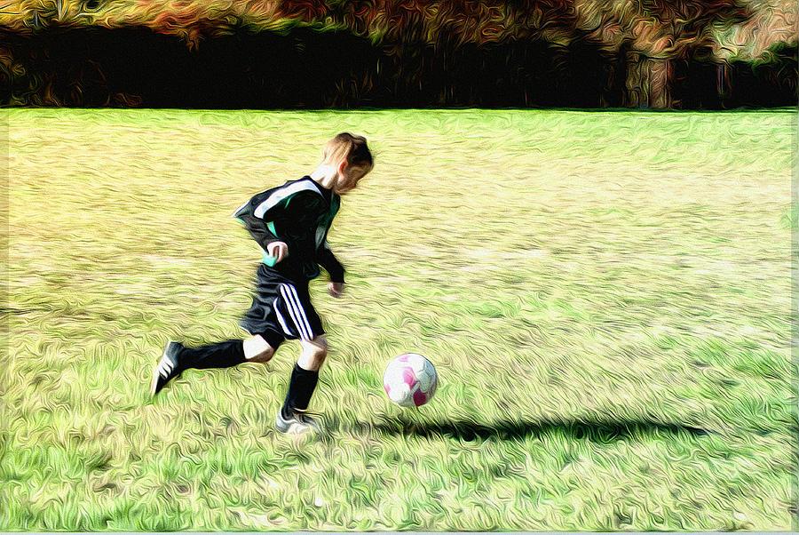 Footballer Photograph - Footballer by Bill Cannon