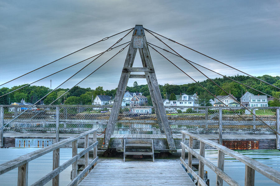 Boothbay Harbor Photograph - Footbridge Tower by Ron St Jean