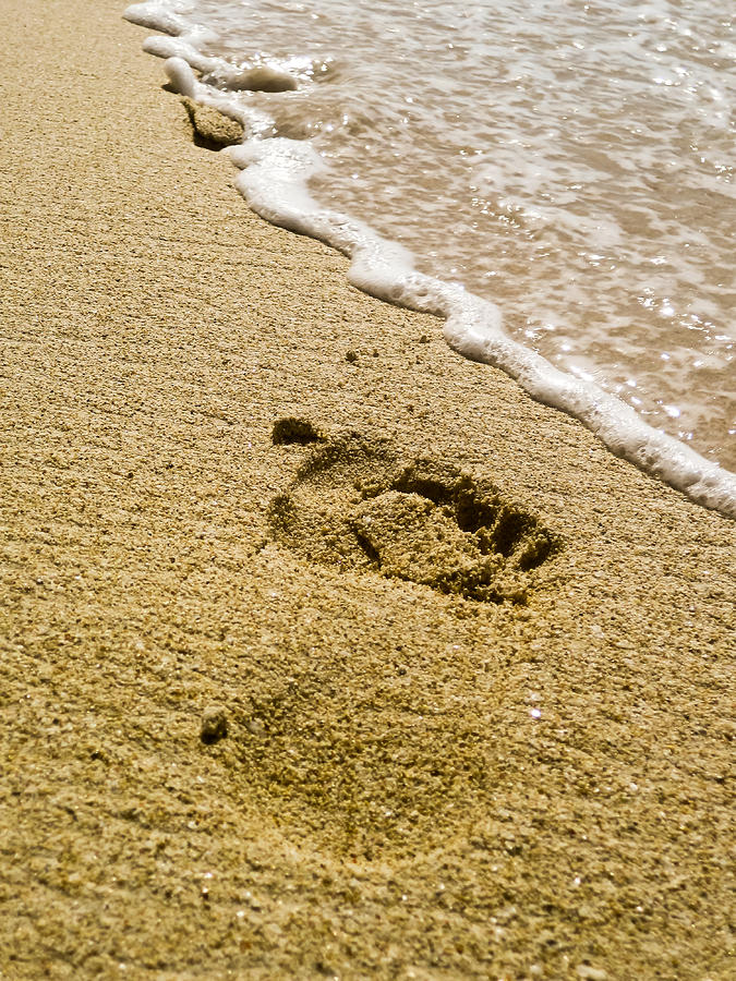 Footprint Photograph by Keith Allen