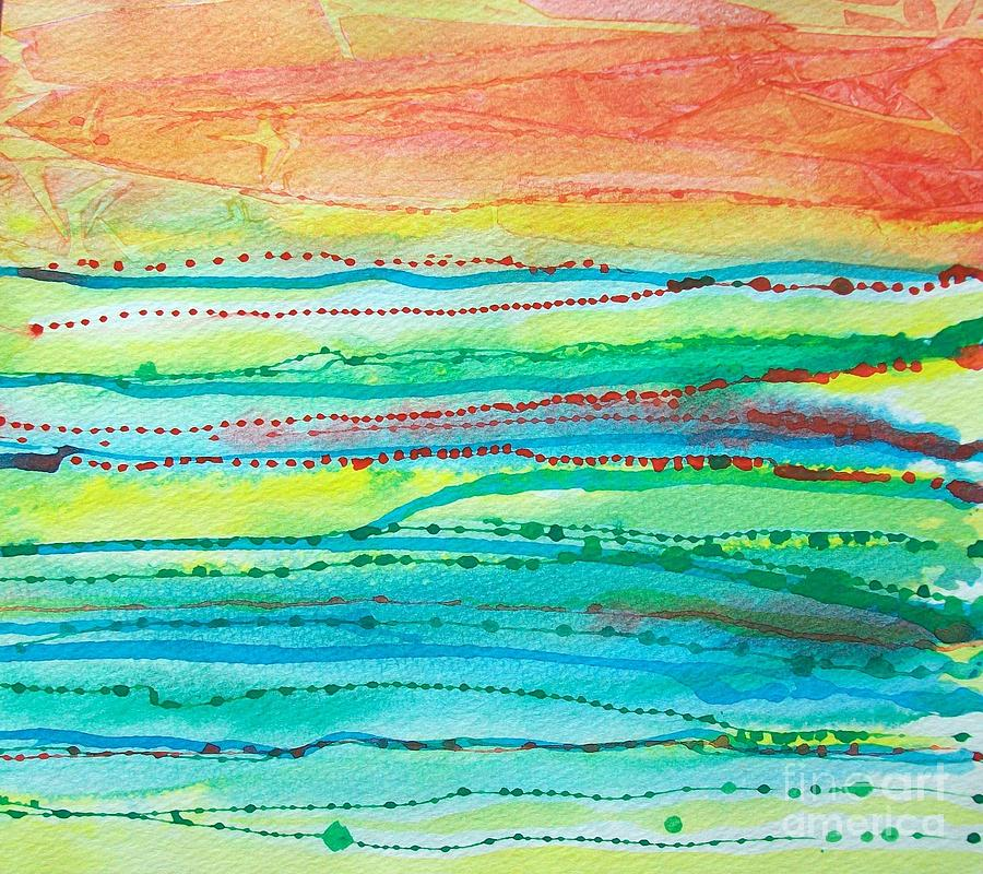 Abstract Painting - Footprints by Judith A Smothers