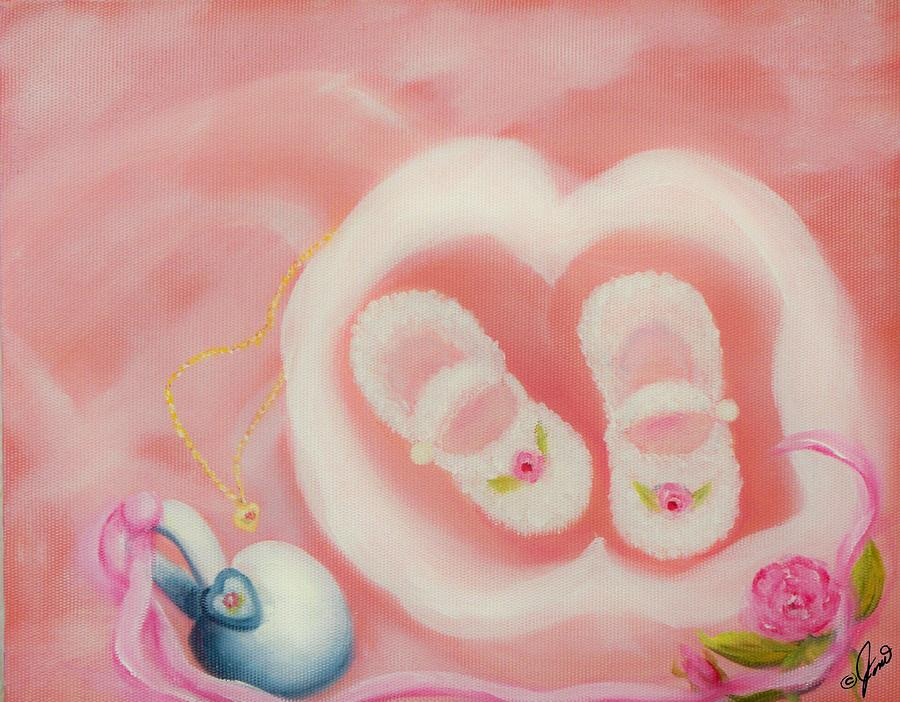 Pink Painting - For Baby by Joni McPherson