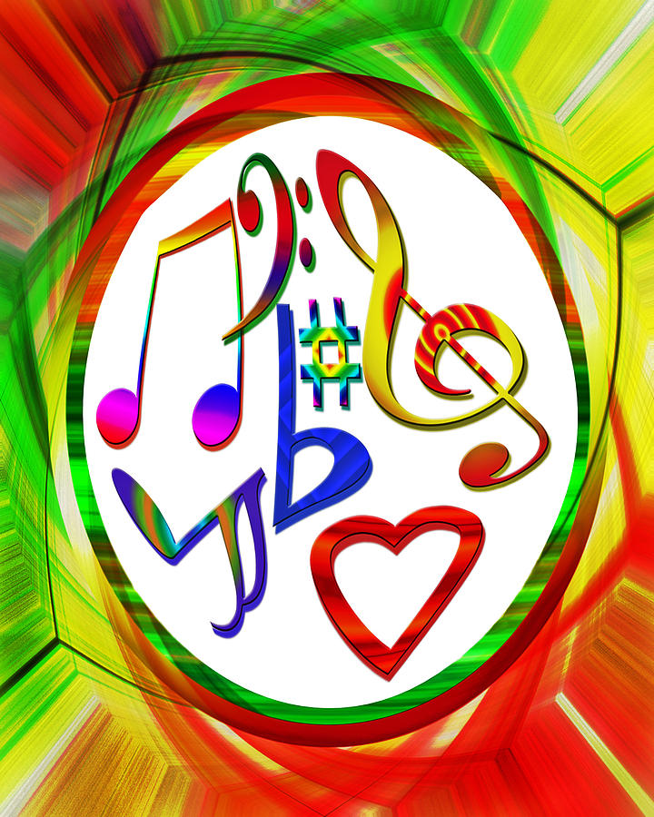 Colorful Photograph - For The Love Of Music by Susan Leggett