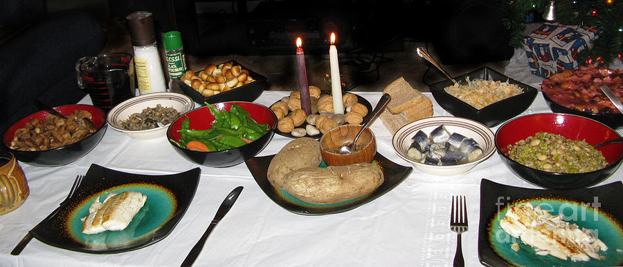 For Two. Traditional Lithuanian Christmas Eve Dinner ...