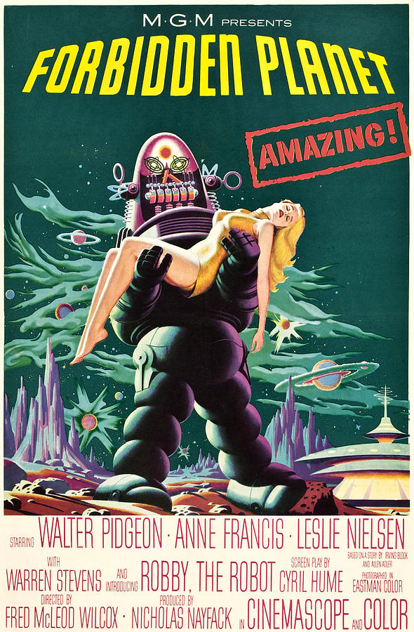 Carrying Photograph - Forbidden Planet, Robby The Robot, Anne by Everett