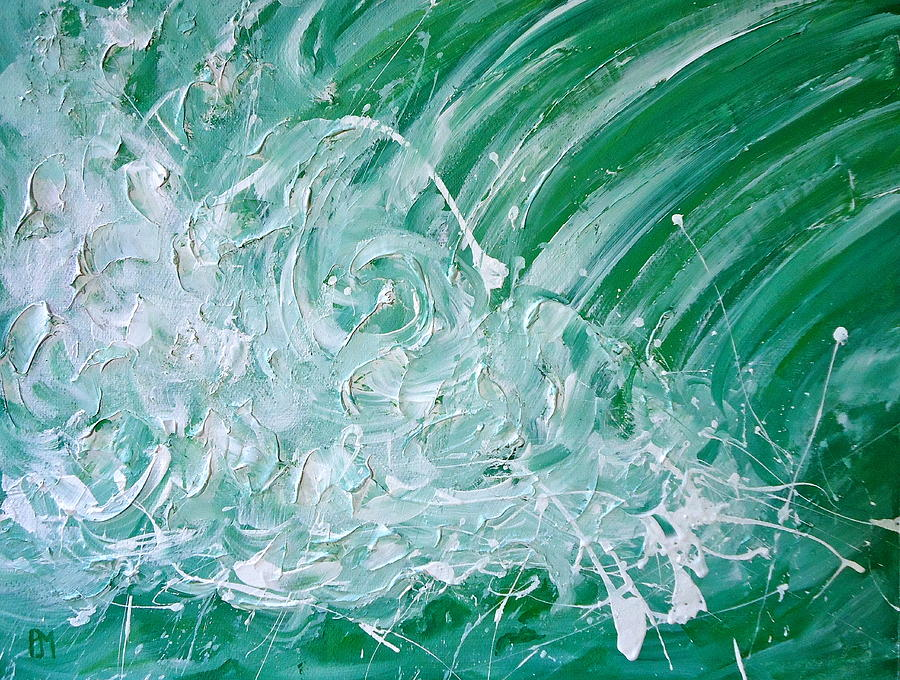 Wave Painting - Force Of Nature II by Pete Maier