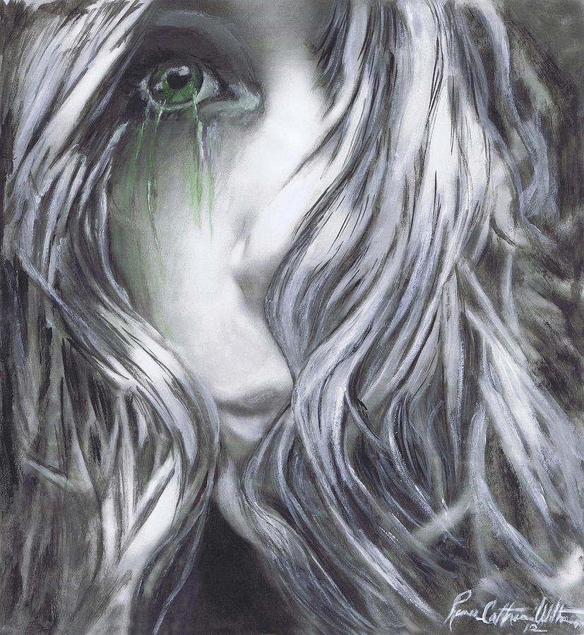 Cry Painting - Forced  To See by Renee Catherine Wittmann