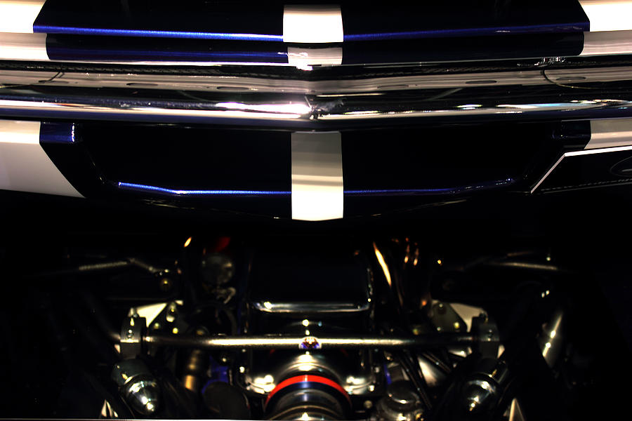 Abstract Photograph - Ford Mustang Front View by Radoslav Nedelchev