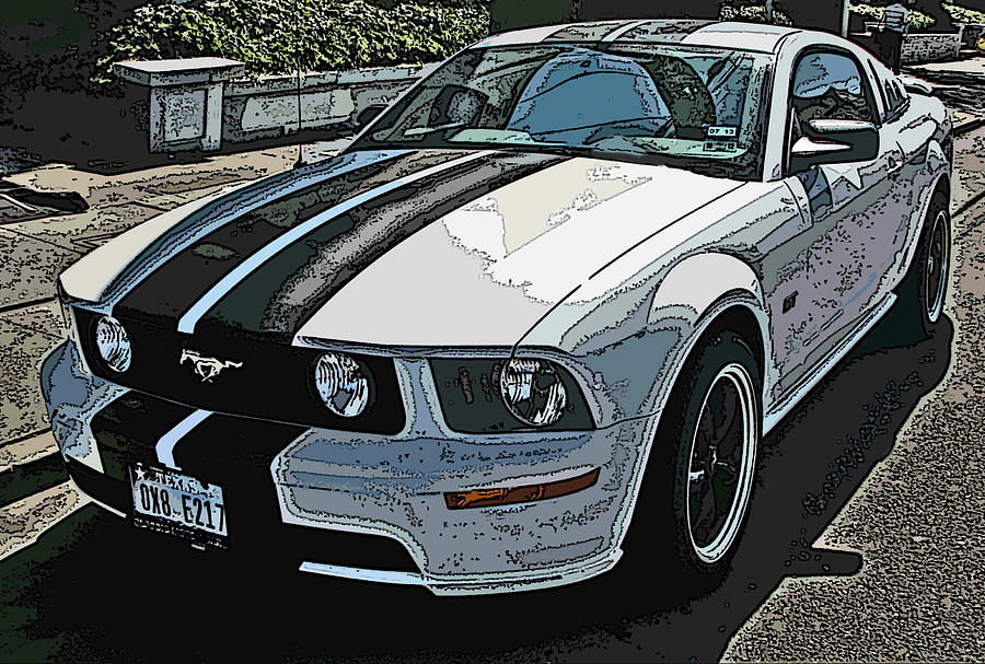 Ford Photograph - Ford Mustang Gt No. 2 by Samuel Sheats