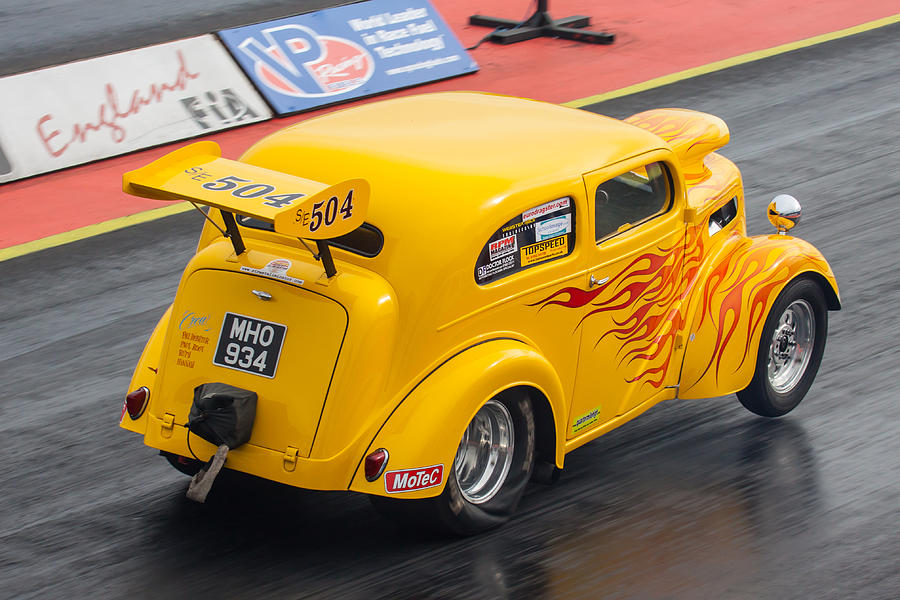 Ford Photograph - Ford Popular Drag Racer by Ken Brannen