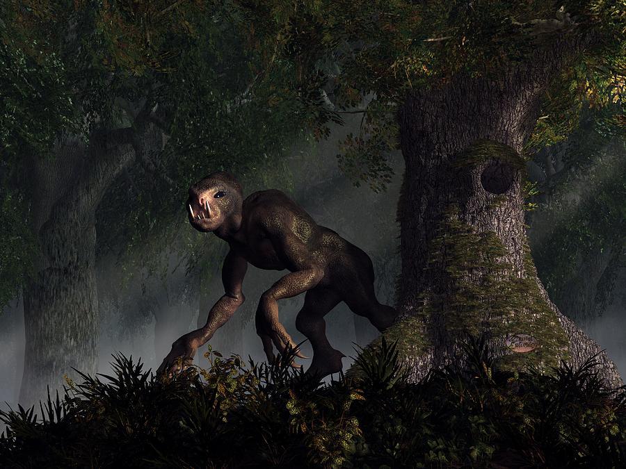 Forest Digital Art - Forest Creeper by Daniel Eskridge