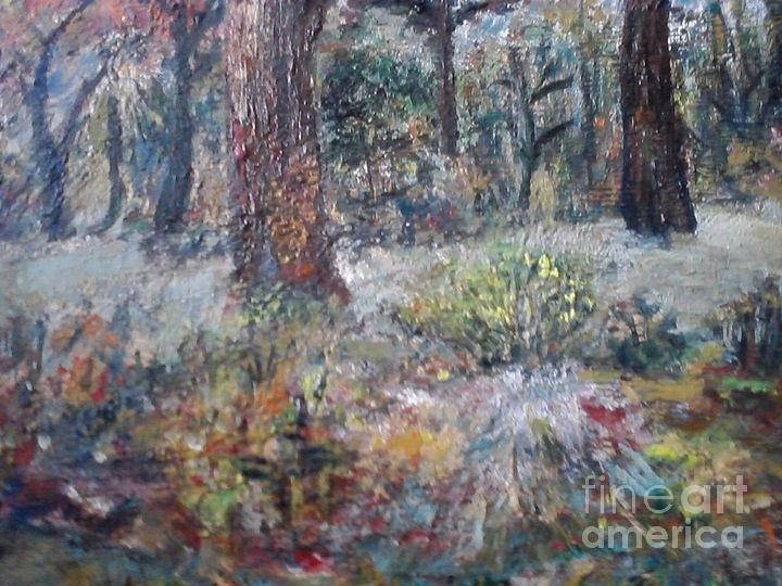 Forest Ege Painting by Ilona Pincse