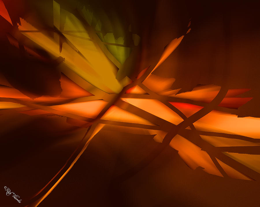 Forest Fire Digital Art by Rick Thiemke