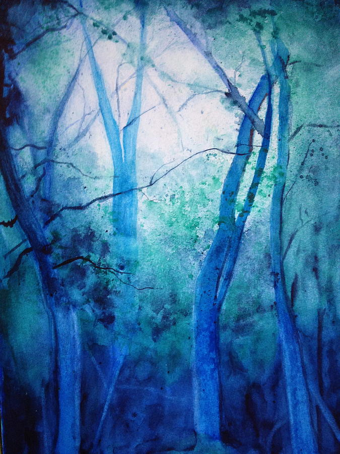 Land Scape Painting - Forest by Giti Ala