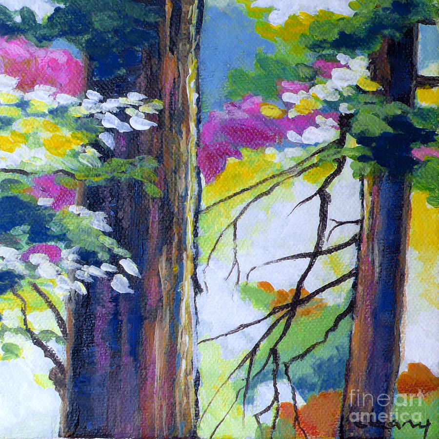 Trees Painting - Forest Light No. 3 by Melody Cleary