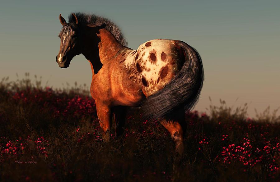 Horse Digital Art - Forever Free by Melissa Krauss