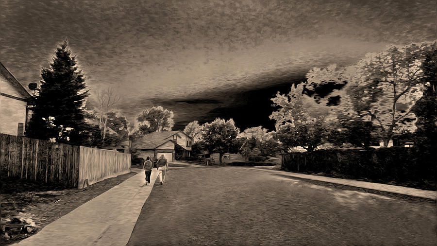 Landscape Digital Art - Forever Together by Sergio Aguayo