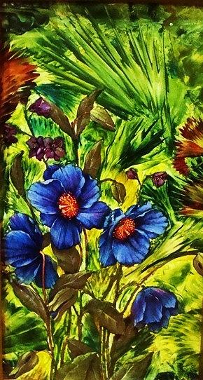Flowers Painting - Forget-me- by Jeanne Mytareva