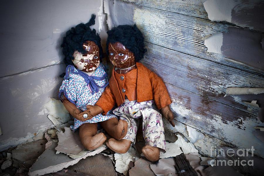 Black Photograph - Forgotten Dolls Study IIi by Norma Warden