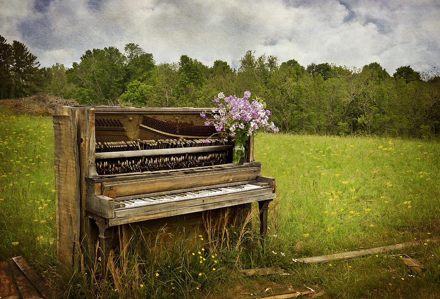 Piano Photograph - Forgotten Tunes by Kathy Jennings