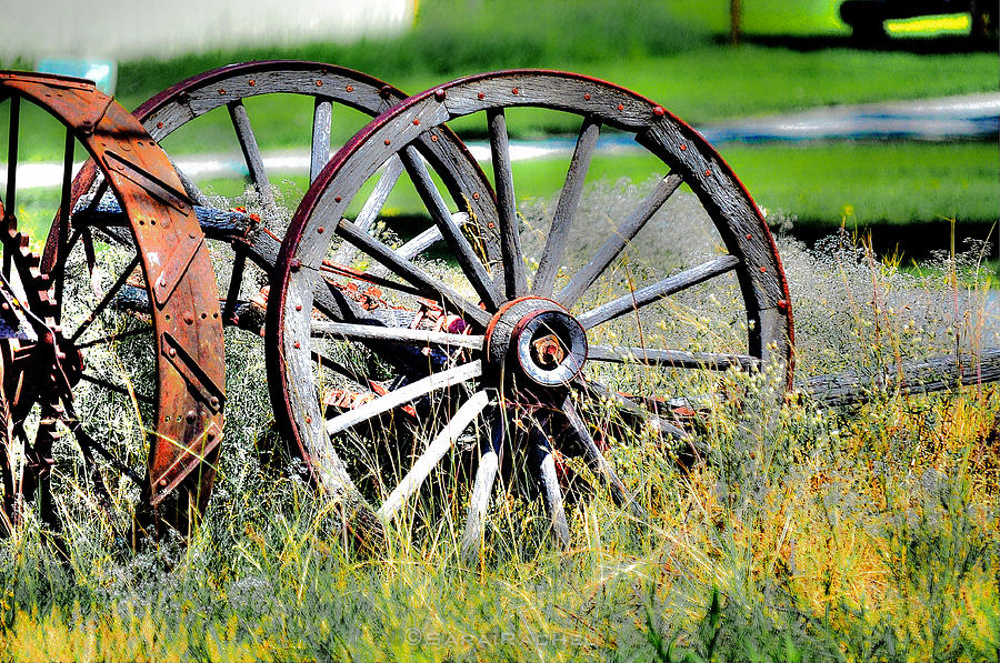 Wagon Photograph - Forgotten Wagon Wheel by Sarai Rachel